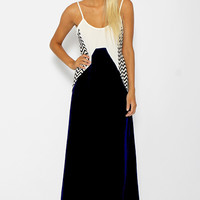 Optic Fusion Maxi Dress - Navy