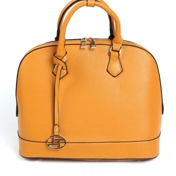 Jet Set Mustard Satchel