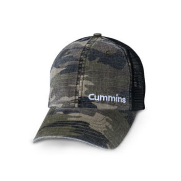 Cummins Washed Camo Mesh Cap