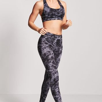 Medium Impact - Marbled Sports Bra