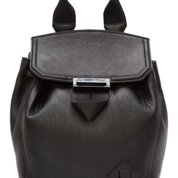 Alexander Wang Black Leather Prisma Backpack