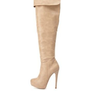 High Heel Over-the-Knee Boots by Charlotte Russe
