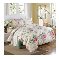 Bed Quilt Duvet Sheet Cover 4PC Set Upscale Cotton 100% 009