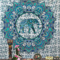 Mandala Elephant Tapestry Bohemian Beach Towel Yoga Mat Home Decor