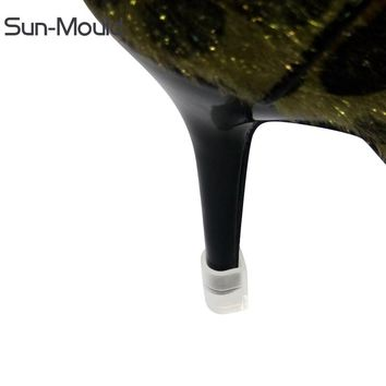 4pairs Small size Easy Use high Stiletto Heel Protectors Antiskids and stop your shoes locked heel protector for 1cm heel