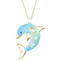 Glass Baron Turquoise Dolphin Necklace