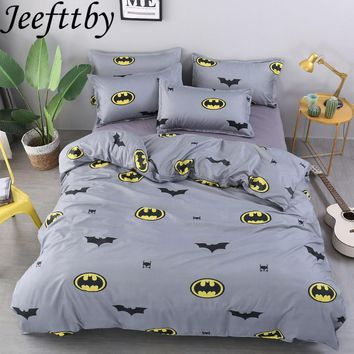Cool Textiles Batman Cartoon Decoration3/4pcs Bedding Set Twin Full Queen King Duvet Cover Bed Sheet Pillowcase Bed Linen BedclothesAT_93_12