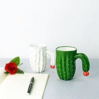 Cactus Ceramic Coffee Cup