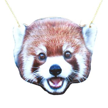 Red Panda Cat-Bear Shaped Vinyl Animal Themed Cross Body Shoulder Bag | DOTOLY