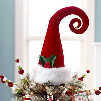 Santa Hat Tree Topper$24.95