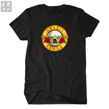 2017 new graphic tee Guns'N Roses Rock and Roll band music