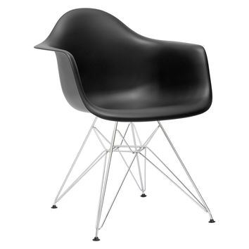 Eames Inspired Molded Armchair-Chrome Base
