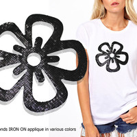 Iron On Flowers Patch Applique for DIY Crafts and Home Decor