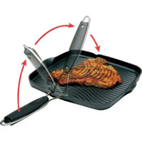 "Starfrit 030036-006-SPEC Grill Pan, 10""x10"", with Foldable Handle - Walmart.com"