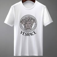 Versace 2020 new printed logo round neck half sleeve shirt