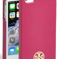 Women's Tory Burch 'Robinson' Saffiano Leather iPhone 5 Case