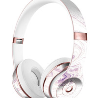 Light Purple Textured Marble Full-Body Skin Kit for the Beats by Dre Solo 3 Wireless Headphones