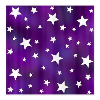 Purple And White Star Pattern Shower From CafePress