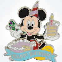 Disney Mickey Mouse Happy Birthday Pin New