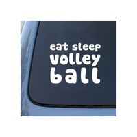 EAT SLEEP VOLLEYBALL - Car, Truck, Notebook, Vinyl Decal Sticker #2048 | Vinyl Color: White