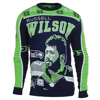 Seattle Seahawks Russell Wilson #3 Official NFL Player Ugly Sweater