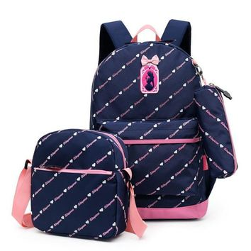 Toddler Backpack class 3 pcs School Backpack kids Schoolbag For Kids Children's Backpack School Bags For Girls s Mochila Infantil Zip AT_50_3