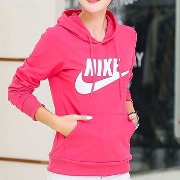 Nike Women Top Sweater Pullover Hoodie