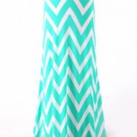 Flared Chevron Modest Long Maxi Skirt