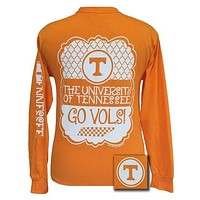 Tennessee Vols Preppy Frame Logo Bright Long Sleeves T Shirt