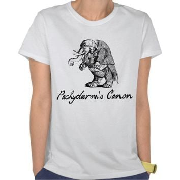 Pachyderm's Canon Violin playing Elephant Fiddle T-shirts from Zazzle.com
