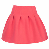 **CORAL NEOPRENE SKIRT BY SISTER JANE