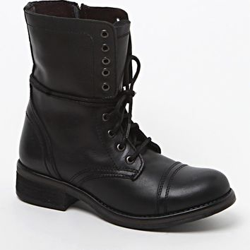 Steve Madden Leather Troopa 2.0 Lace-Up Boots - Womens Boots