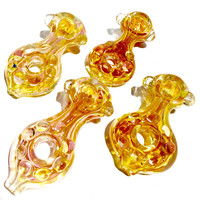 Gold Fume Donut Hole Pipe