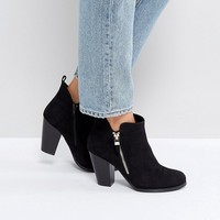 Call It Spring Kokes Black Heeled Ankle Boots at asos.com