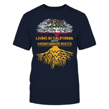 West Virginia Mountaineers - Living Roots California - T-Shirt - Officially Licensed Fashion Sports Apparel