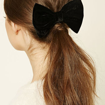 Velour Bow Barrette