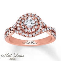 Neil Lane Engagement Ring 7/8 carat tw 14K Rose Gold