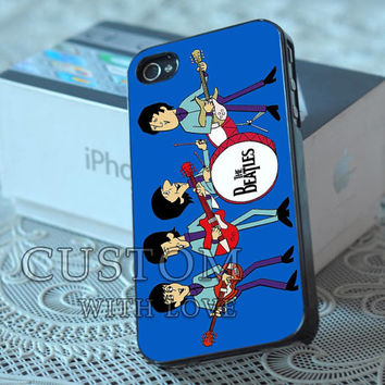 Cute Cartoon The Beatles - Rubber or Plastic Print Custom - iPhone 4/4s, 5 - Samsung S3 i9300, S4 i9500 - iPod 4, 5