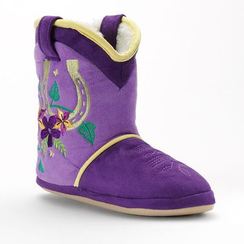 Cicciabella Southern Charm Horseshoe Boot Slippers (Purple)
