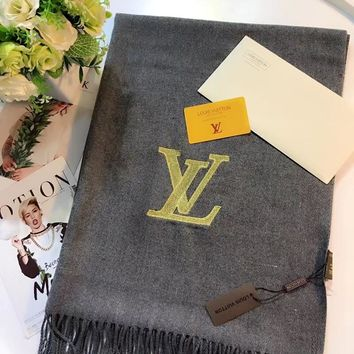 Louis Vuitton Women Cashmere Warm Winter Scarf Scarves
