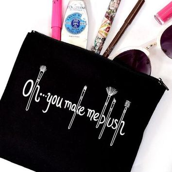 Oh, you make me blush | Canvas Make Up Bag