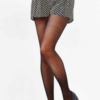 Sheer Fishnet Pattern Tight- Black