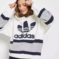 Adidas Fashion Hooded Sport Pullover Tops Sweater Sweatshirt Hoodie