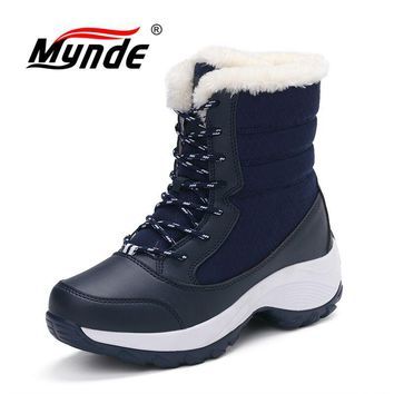 Mynde Winter Women Boots New Arrival Fashion Brand Female Snow Boots Classic Mujer Botas Waterproof  Boots For Women Size 35-41