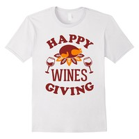 Happy Wines Giving Funny Thanksgiving Shirt