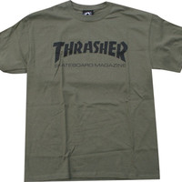 Thrasher Skate Mag Tee Small Army/Black