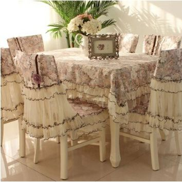2017 New Fashion Jacquard Floral Rectangular Tablecloth Fabric Home Decor Hotel Dining/wedding Embroidered Lace Table Cloth Tabl