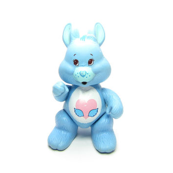Swift Heart Rabbit Vintage Care Bears Cousins Poseable Blue Bunny Toy