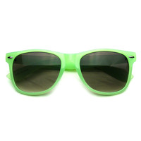 Super Colorful Neon Pastel Gloss Finish Retro Wayfarer Sunglasses