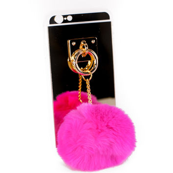 Rabbit Pom Pom Mirror iPhone Case